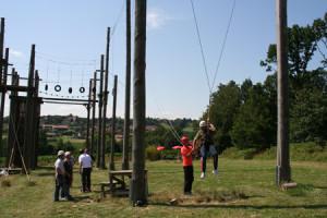 Giant Swing - Riesenschaukel im Hochseilgarten Bad Griesbach
